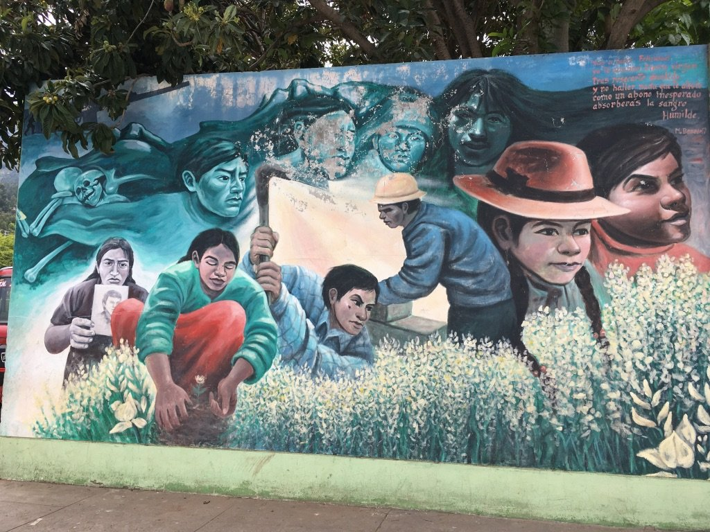 Mural Huanta Stadium, where hundreds were held tortured and disappeared by the military 5
